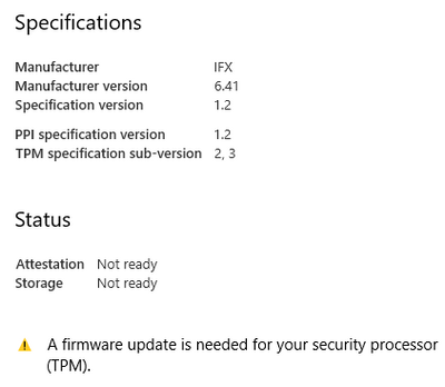 security chip (TPM) requires a firmware update Z240 - HP