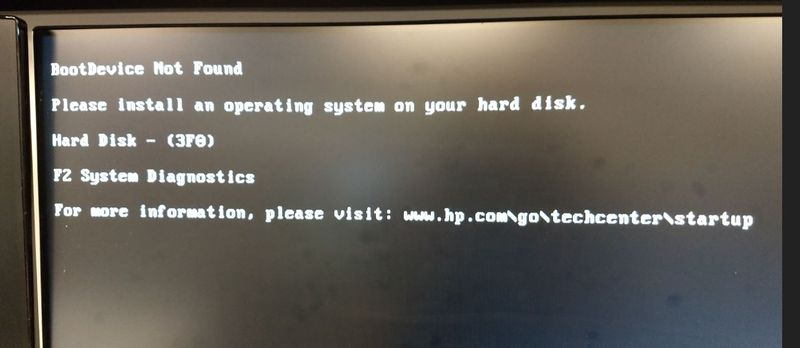 Re: After clone to SSD    will not boot  - Page 2 - HP
