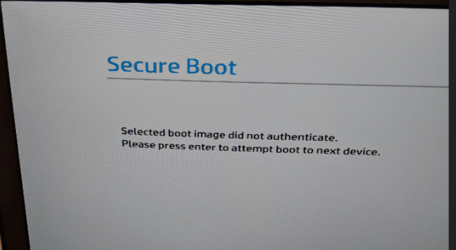 Solved: Unable to Disable Secure Boot to Image Laptop - HP Support