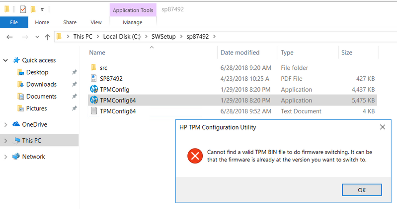 Solved: Need TPM Firmware Update for Security Processor - HP Support