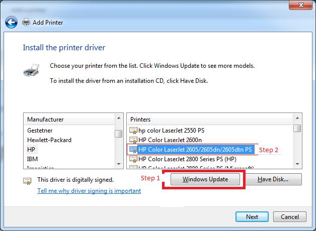 Hp color laserjet 2605dtn printer drivers & software download.