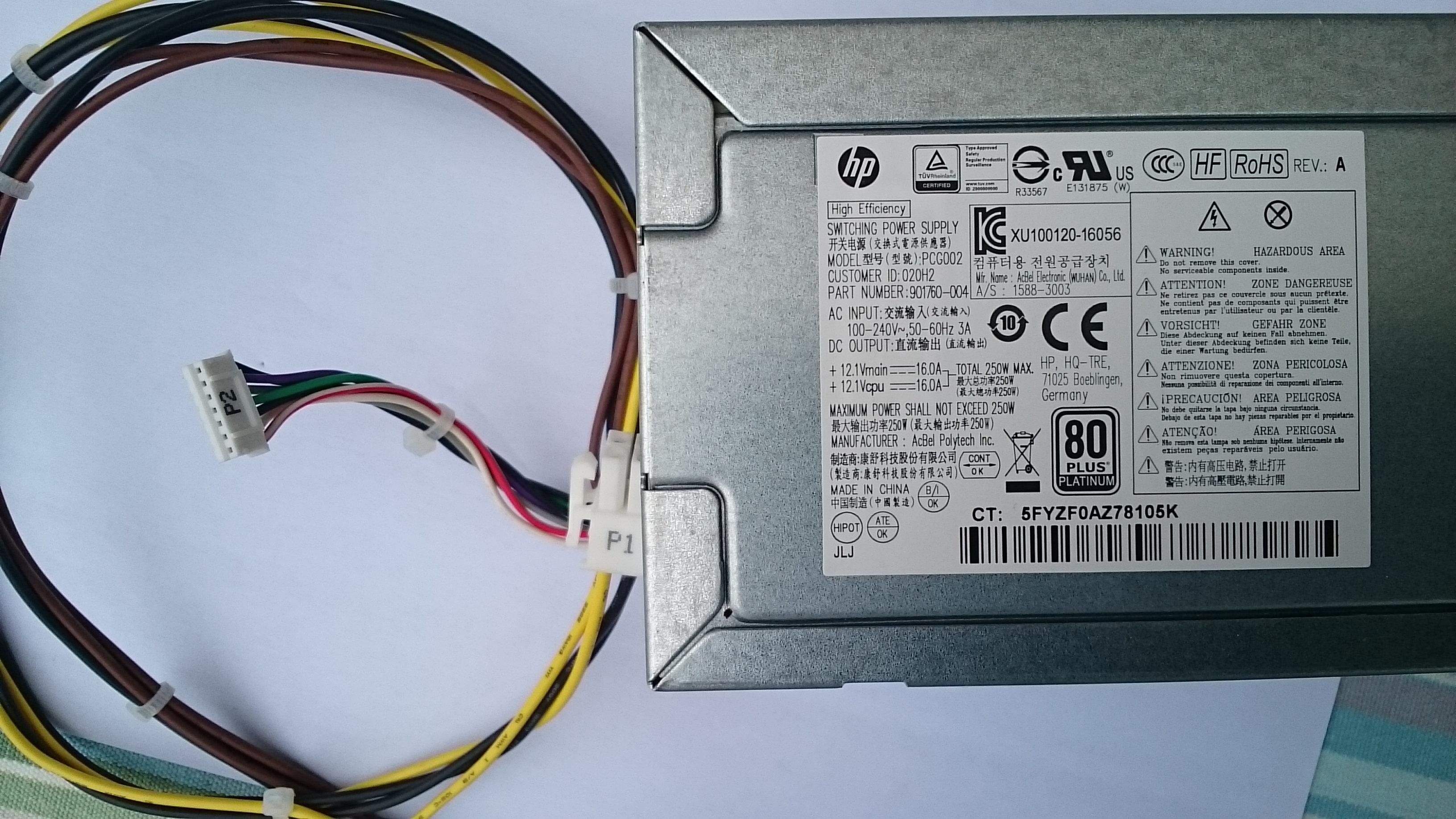 P Elite Desk 800 G3 Power Supply Upgrade Hp Support Community 6369136
