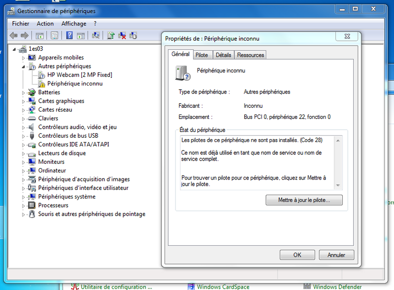 controleur pci de communications simplifiées windows 7 64 bit