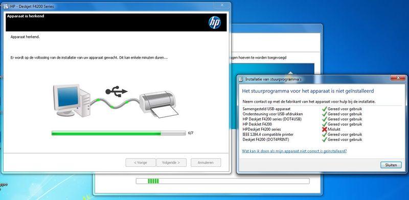 Foutmelding bij installatie printer drivers onder nieuw gebruikers account.JPG