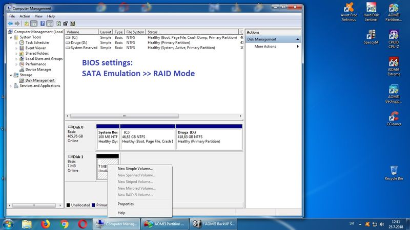 How to reuse Intel 313 SSD (ex cache disc in HP Elite 8300