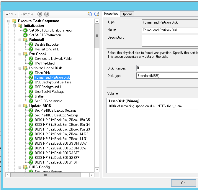 Automatic BIOS Update with SCCM TS not working with HPFirmwa    - HP
