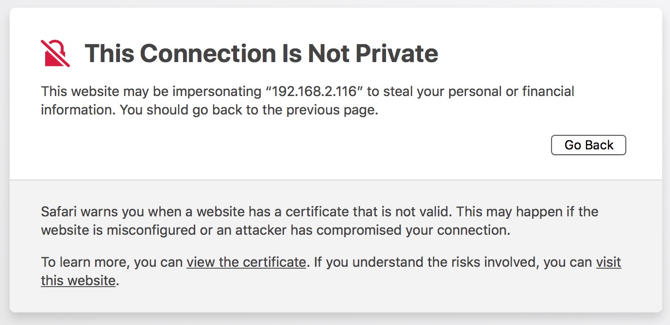 Your connection is not private NET::ERR_CERT_INVALID - HP Support