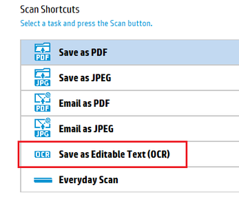 Hp scanjet pro scanner unexpected output when scanning non.