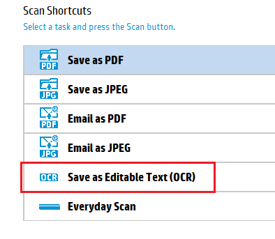 How to ocr with officejet pro 8620 when i've already install.