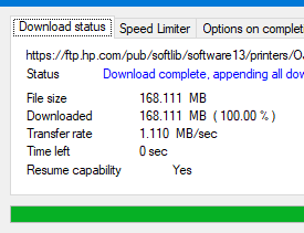 can not complete firmware download or driver product install