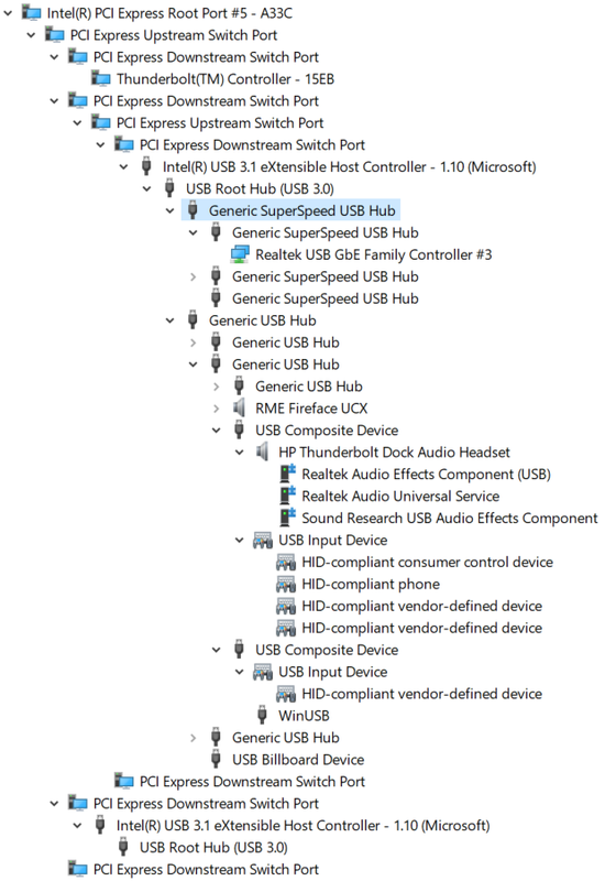Thunderbolt Dock G2 in Device Manager