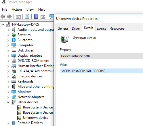 Base system device driver - HP Support Community - 6838524