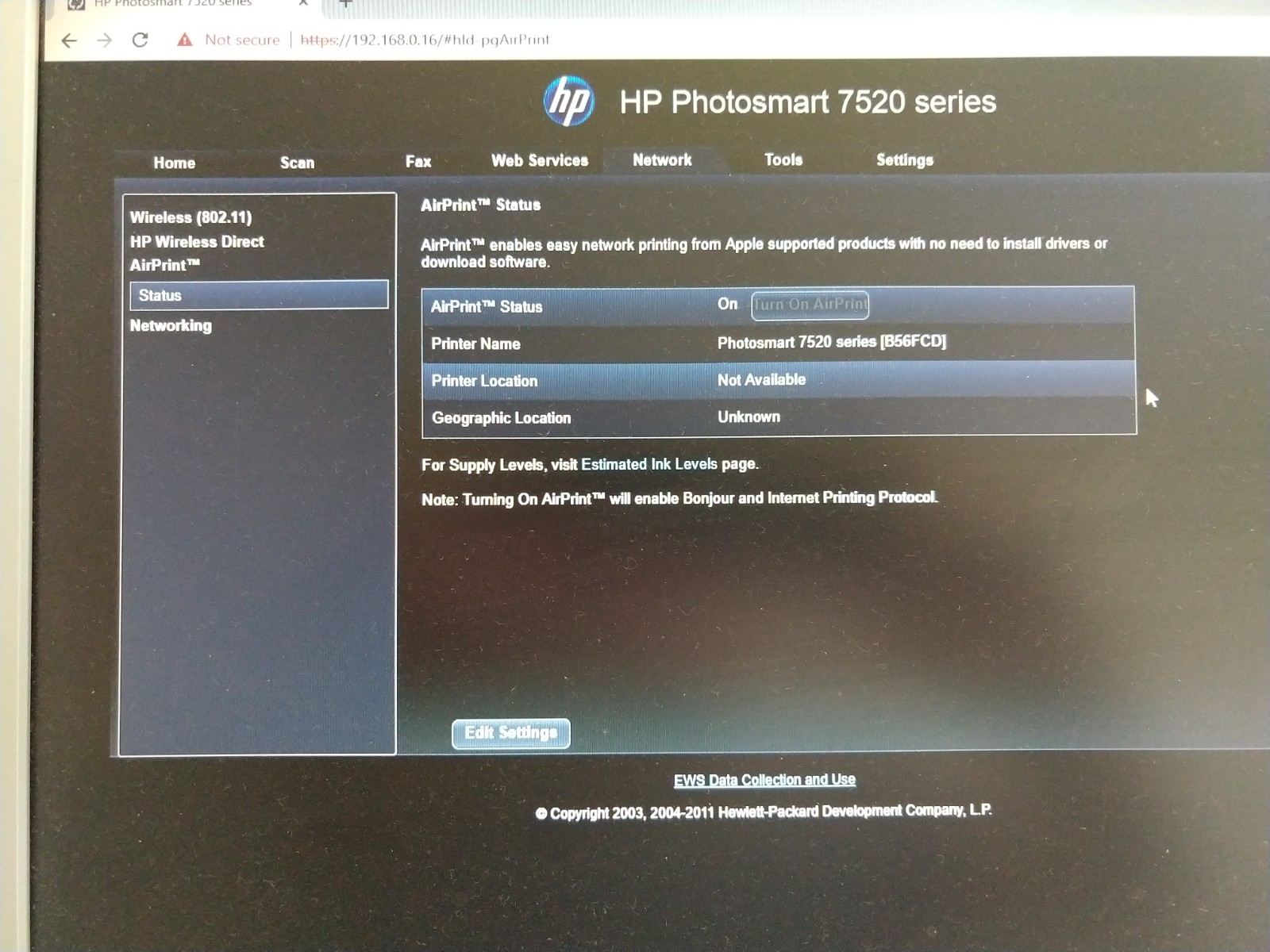hp 7520 driver for ipad