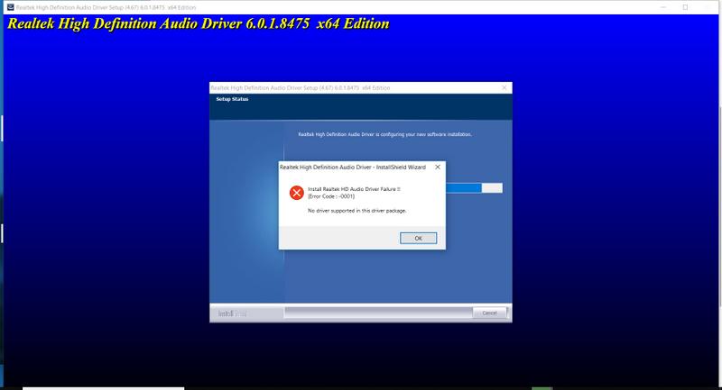 install failure
