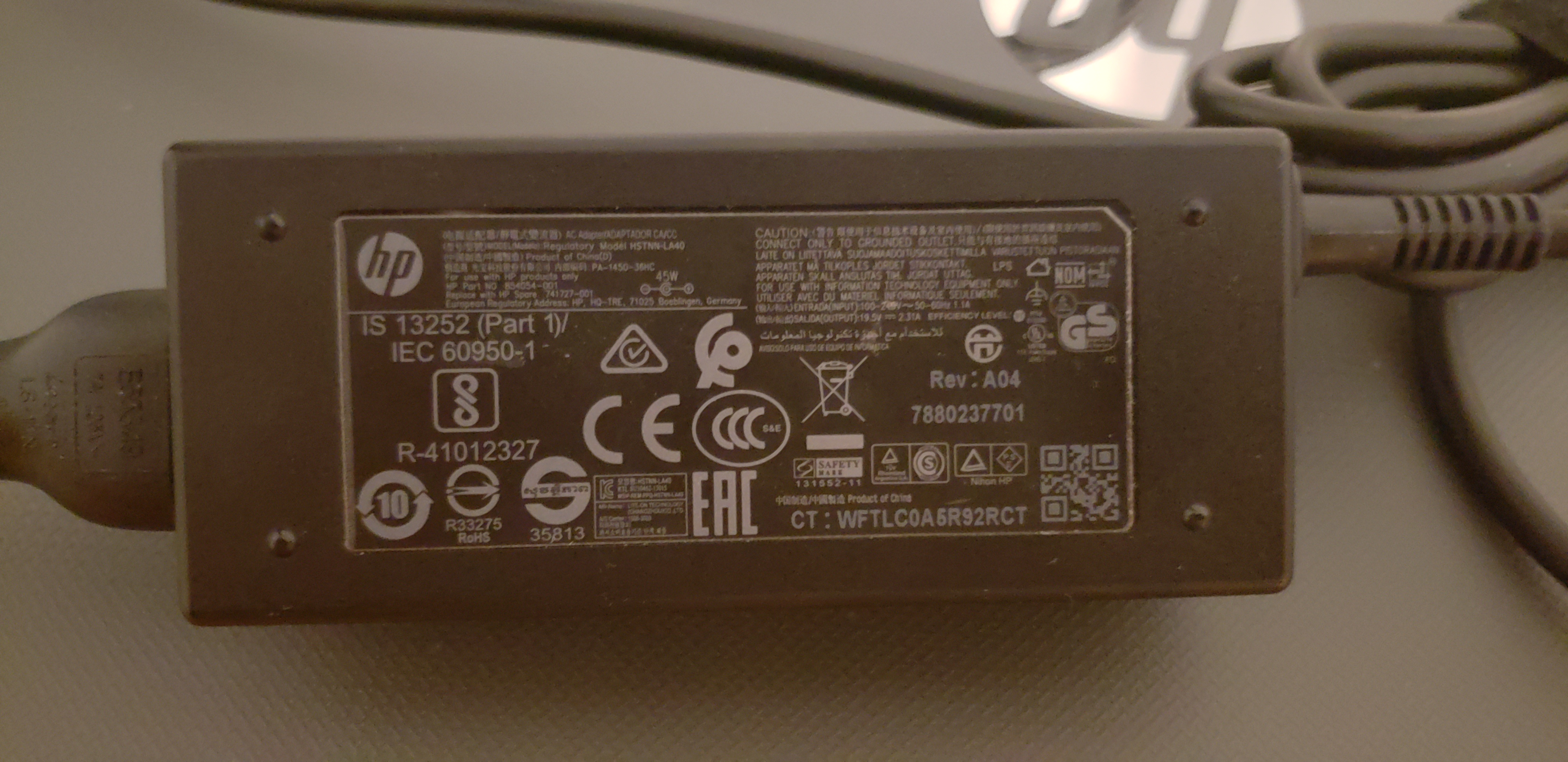 Solved: Laptop voltage for travel - HP Support Community