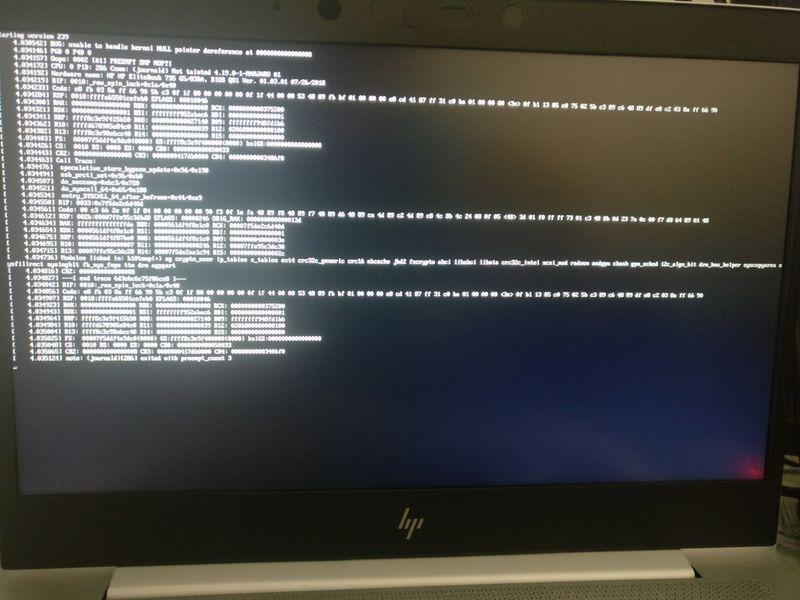Added Kernel Parameter acpi=off debug