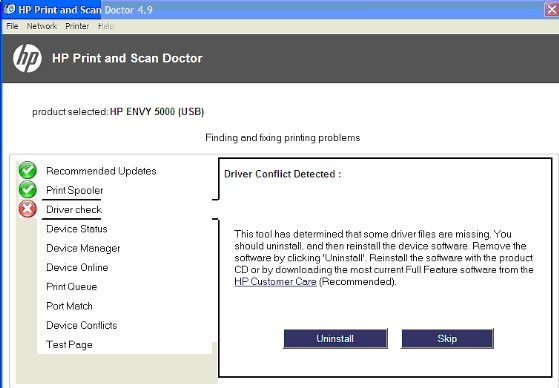 Solved: HP Envy 5000 series install/connect problem - HP Support