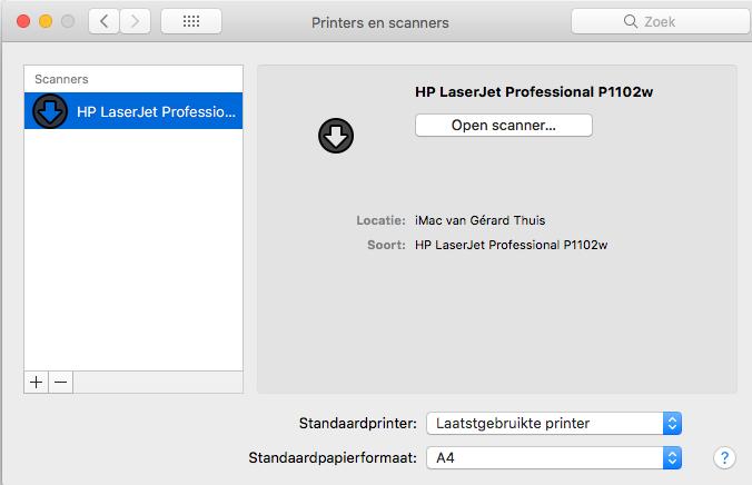 firmware update for Laserjet P1102w won't install on Mac