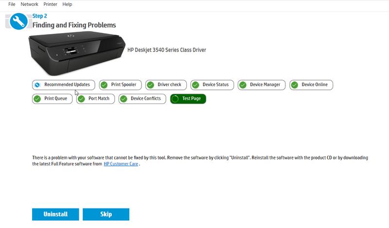 Deskjet 3540] Driver Unavailable Issue [Win 10] - Windows 10