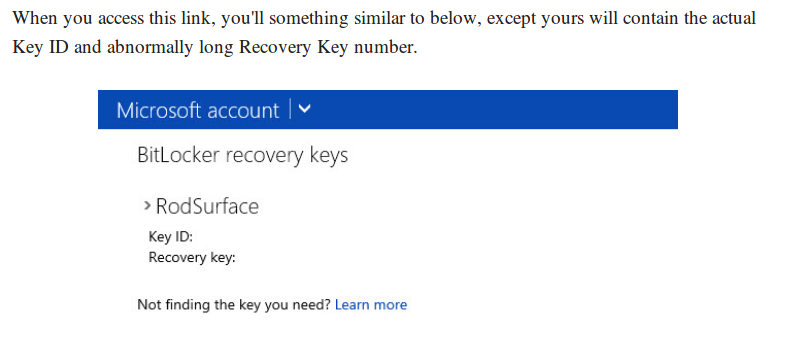 Bitlocker recovery key unknown or missing - HP Support