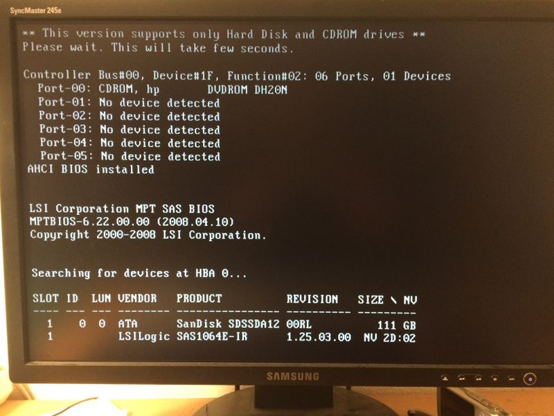 Boot up rests at 1  screen, searches then for SSD - HP Support