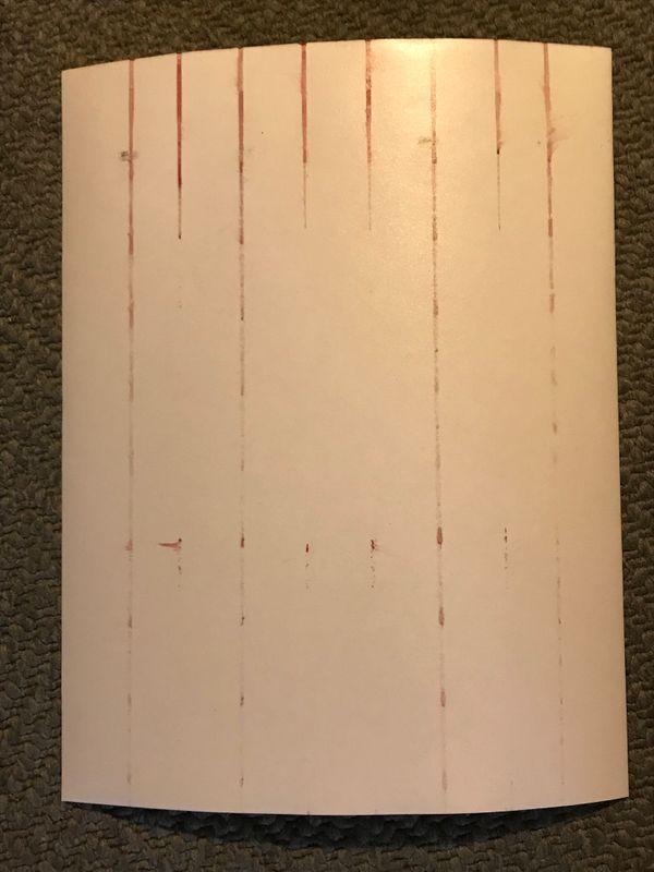 Back side, showing ink lines