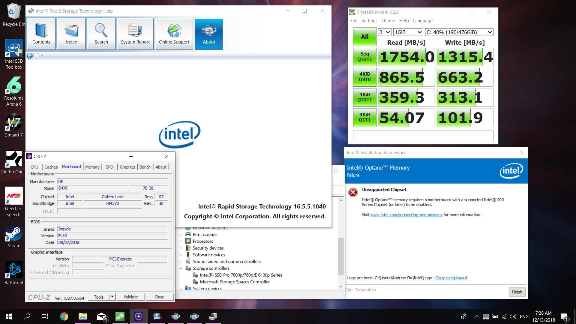 PCIE/NVME - HP Support Community - 6934244