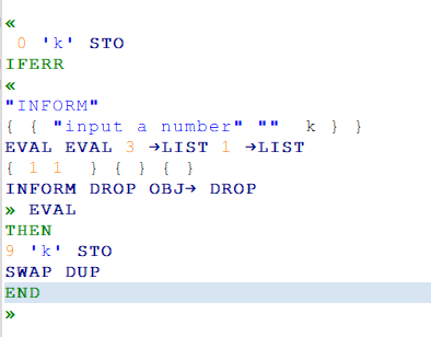 here is my code , notice that my prefered variable was number , but iI want next - if I entered a algebraic expression that program will accept expresion too like as number did