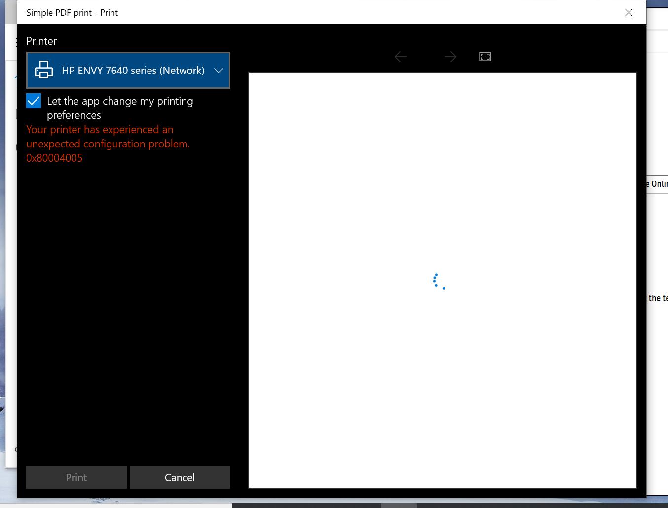 Error Code 0x80004005 Windows 10 Mail