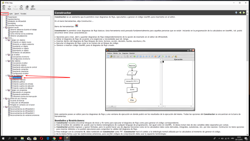 Instructions for Constructor inside of a HP User Edit 6 Alpha 2 , HTML view !!