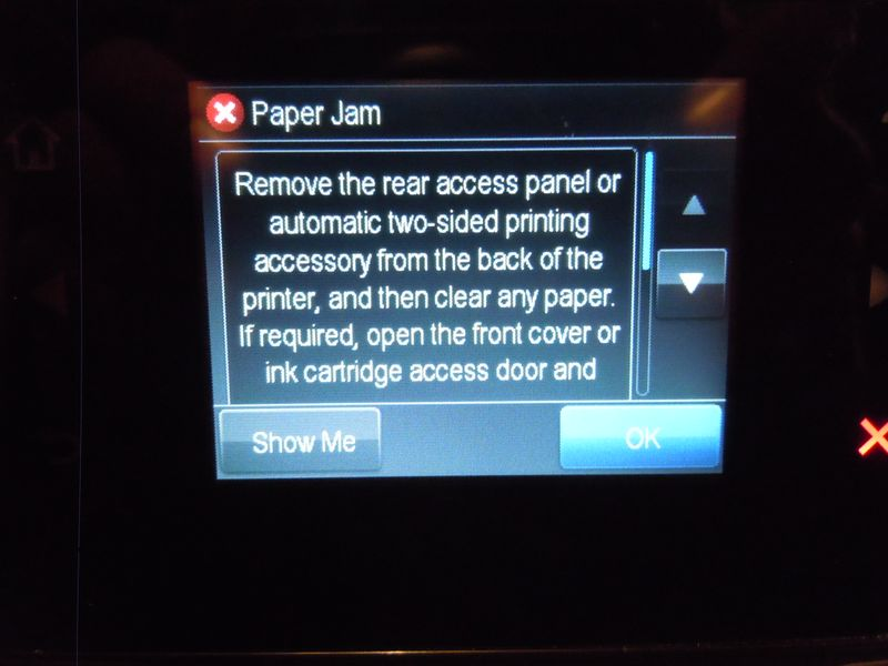 Solved: OfficeJet 7612 false paper jam errors - HP Support
