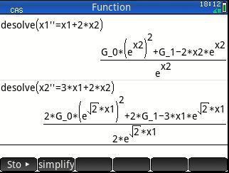 Solve a system of differential equations Hp Prime - HP