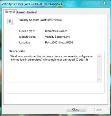 HP Validity Sensors incomplete or damaged Code 19.JPG