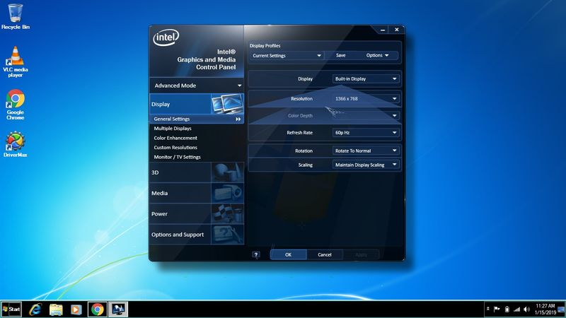 intel graphics and media control panel not opening