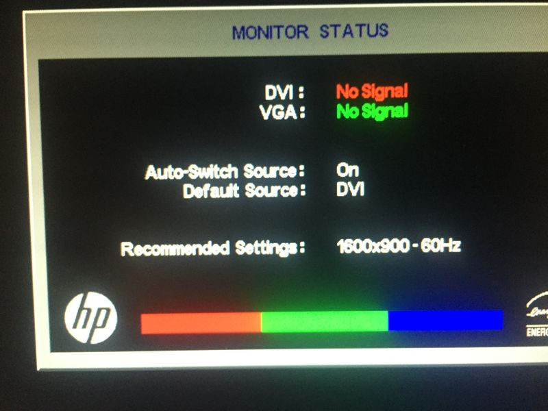 Monitor won't stop going in a loop between sleep mode and mo