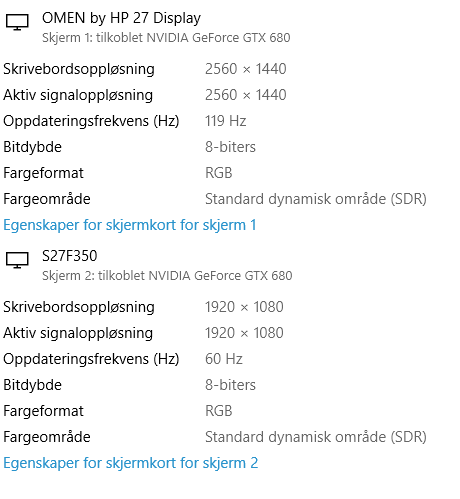 HP Omen 27 monitor won't run 165hz - HP Support Community