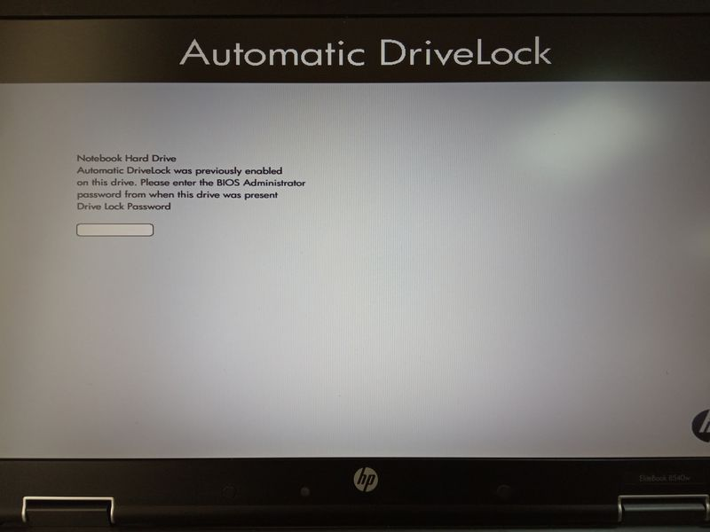 I enter the password on the SSD.