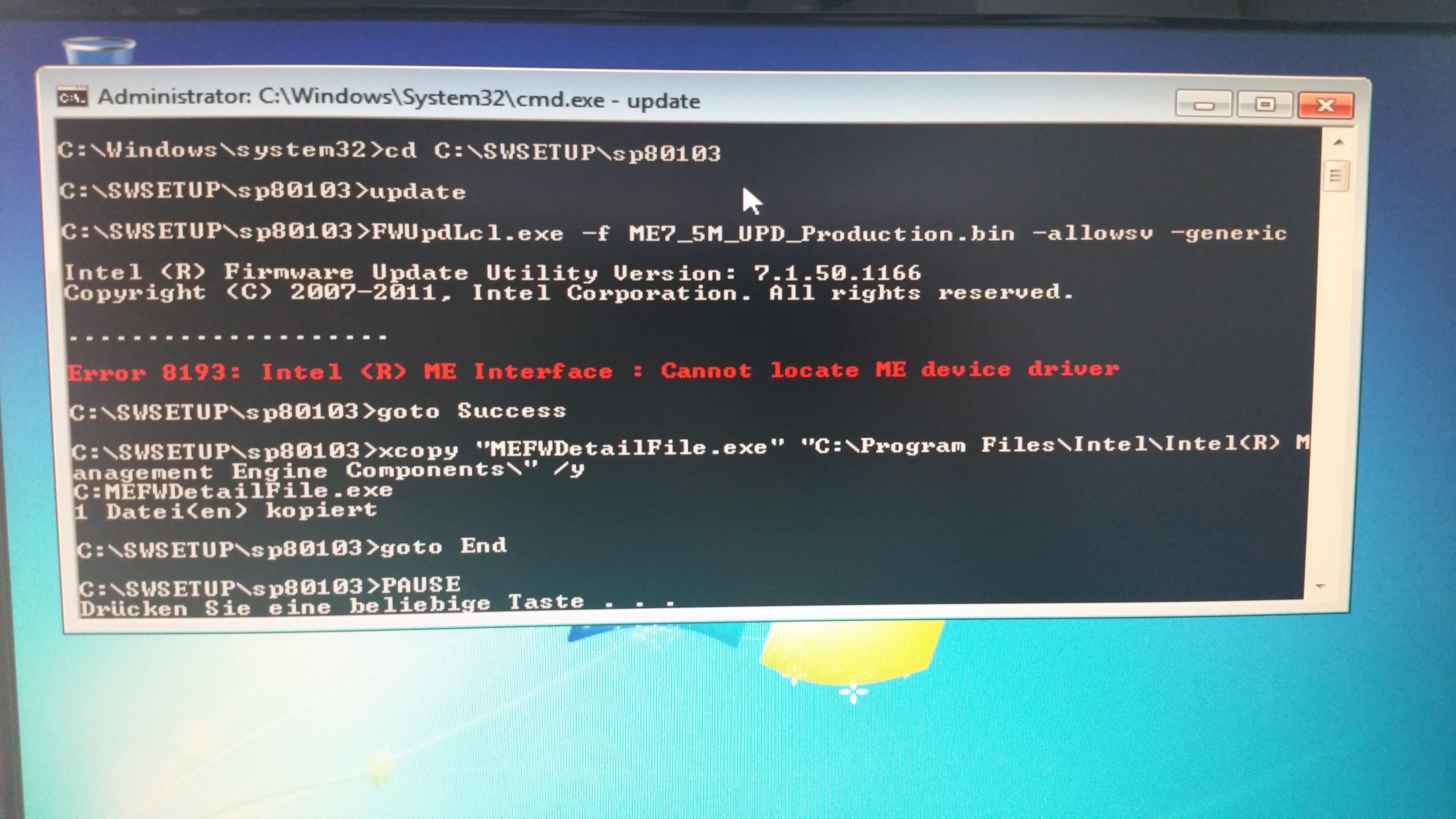 intel management engine drivers firmware