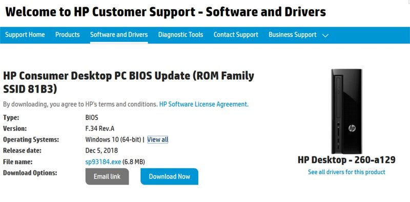 Solved: Hp support assistant recommending wrong bios update