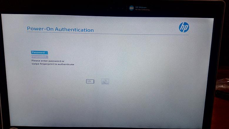 Power on authentication snapshot