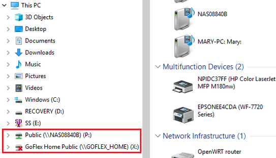 Cannot access network hard drive  - HP Support Community