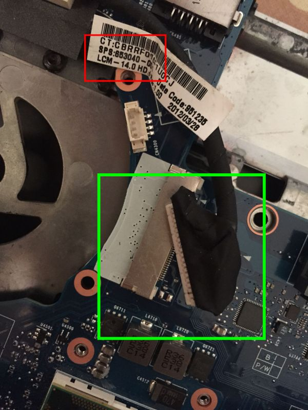 lvds not support, it is 8470p part or 8460p