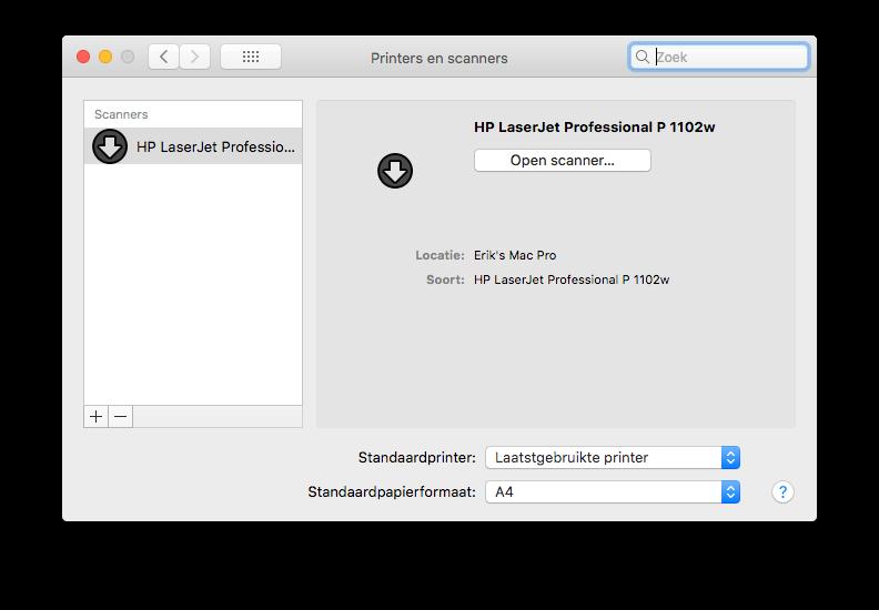hp laserjet pro p1102w driver mac os x