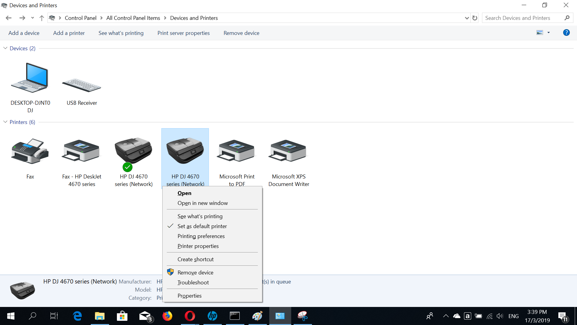 HP Deskjet Ink Advantage 4675: No option to print in