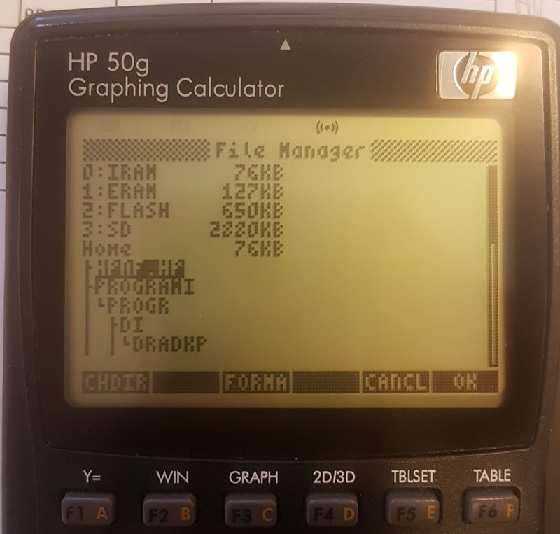 This is physically same file on my physically HP 50g graphing calculator