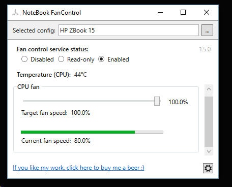 Control fan speed - HP Support Community - 6387960