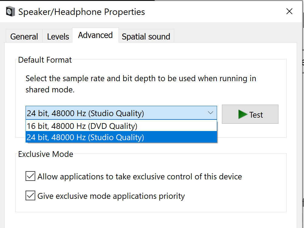 Solved: Lack of CD Quality Format (AUDIO) - HP Support Community
