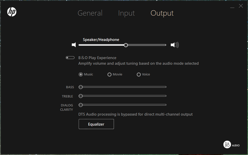 Unable to enable B&O Play Experience in audio control - HP