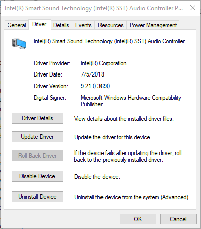 Solved: Conexant audio driver installs and works, then
