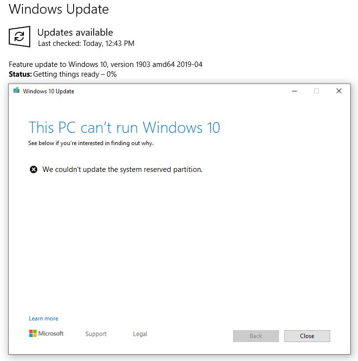 wie man kauft sehr bekannt attraktive Mode Solved: Windows 10 version 1809 update fails saying